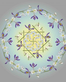 3. IMBOLC WILD FLOWER MANDALA © Maria Silmon